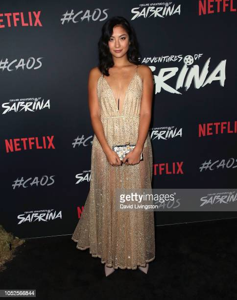 Adeline Rudolph attends the premiere of Netflix's Chilling Adventures of Sabrina at Hollywood Athletic Club on October 19 2018 in Hollywood California