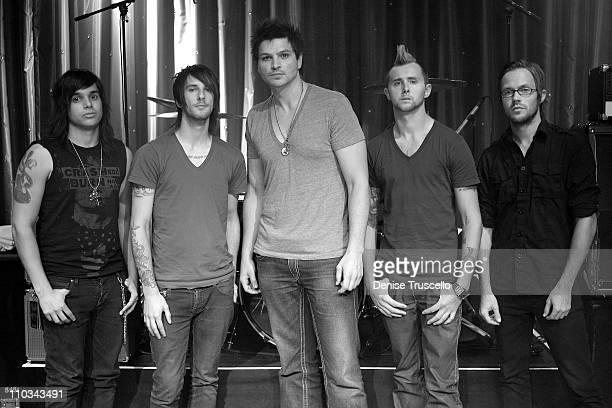 Adelitas Way poses for photos at The Lounge at The Palms Casino Resort on July 14, 2009 in Las Vegas, Nevada.