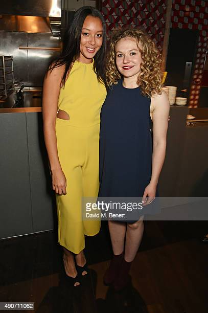 Adelle Leonce and Sally Messham attend the press night after party for Tipping The Velvet at The Lyric Hammersmith on September 28 2015 in London...