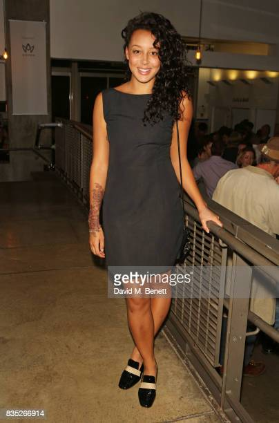 Adelle Leonce attends the press night after party for Against at The Almeida Theatre on August 18 2017 in London England