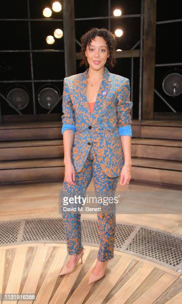 Adelle Leonce attends the press night after party for Emilia at The Vaudeville Theatre on March 21 2019 in London England