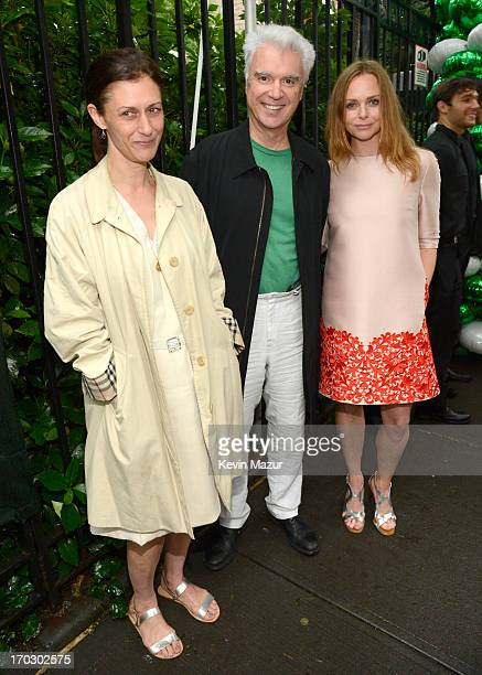Adelle Lutz, David Byrne and Stella McCartney attend the Stella McCartney Spring 2014 Collection Presentation at West 10th Street on June 10, 2013 in...