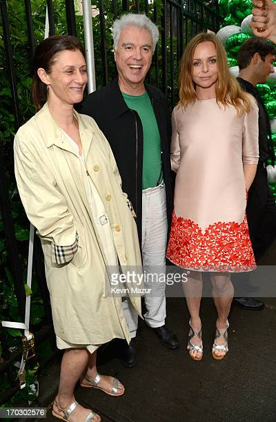 Adelle Lutz David Byrne and Stella McCartney attend the Stella McCartney Spring 2014 Collection Presentation at West 10th Street on June 10 2013 in...