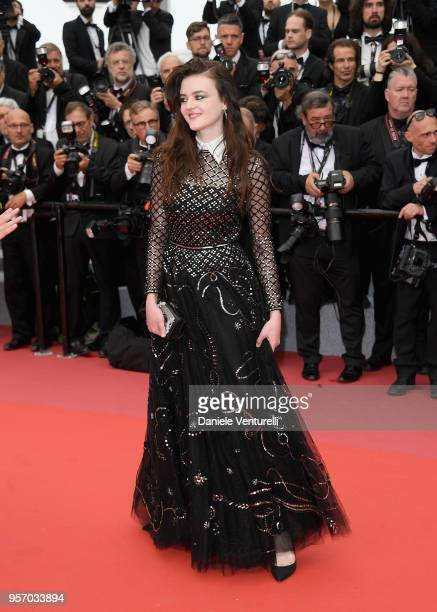 Adelle Wismes attends the screening of 'Sorry Angel ' during the 71st annual Cannes Film Festival at Palais des Festivals on May 10 2018 in Cannes...