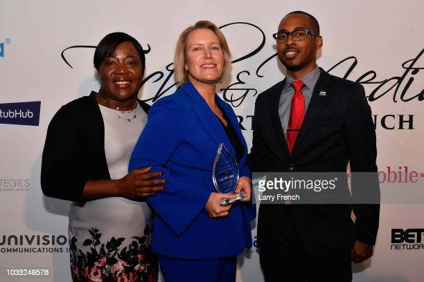 Adelmise Warner Chief of Staff to Rep Barbara Lee Julie Little Nickson and Jonathan Priester appear at IMPACT Strategies and DP Creative Strategies...