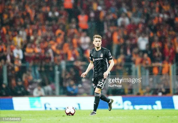 Adem Ljaji of Besiktas during the Turkish Super Lig match between Galatasaray SK and Besiktas at the Türk Telekom Arena in Istanbul Turkey on May...