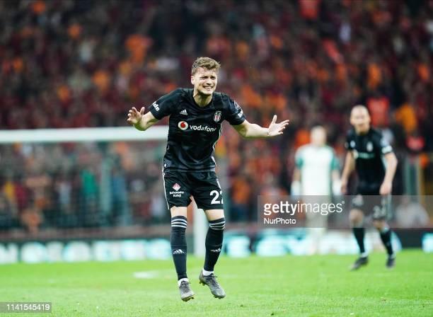Adem Ljaji of Besiktas frustrated during the Turkish Super Lig match between Galatasaray SK and Besiktas at the Türk Telekom Arena in Istanbul Turkey...