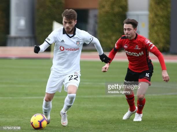 Adem Ljajic of Besiktas in action against Joeri Poelmans of Helmond Sport during a friendly match between Besiktas and Helmond Sport in Antalya...