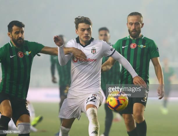 Adem Ljajic of Besiktas in action during the Turkish Super Lig soccer match between Akhisarspor and Besiktas at Spor Toto Akhisar Stadium in Manisa...