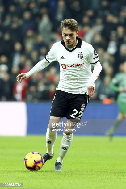 Adem Ljajic of Besiktas in action during Turkish Super Lig match between Besiktas and Bursaspor at the Vodafone Park in Istanbul Turkey on February 9...