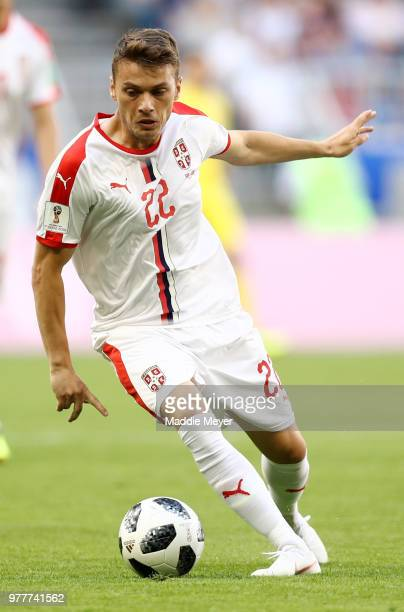 Adem Ljajic of Serbia during the 2018 FIFA World Cup Russia group E match between Costa Rica and Serbia at Samara Arena on June 17 2018 in Samara...