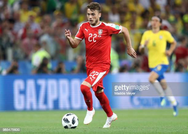Adem Ljajic of Serbia during the 2018 FIFA World Cup Russia group E match between Serbia and Brazil at Spartak Stadium on June 27 2018 in Moscow...