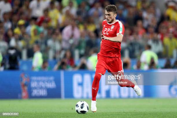 Adem Ljajic of Serbia in action during the 2018 FIFA World Cup Russia group E match between Serbia and Brazil at Spartak Stadium on June 27 2018 in...