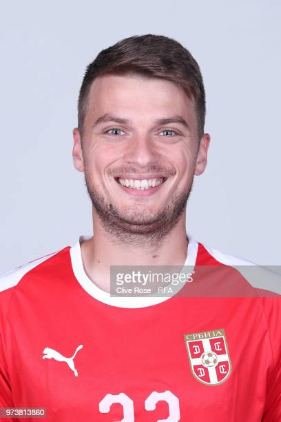 Adem Ljajic of Serbia poses for a portrait during the official FIFA World Cup 2018 portrait session at the Team Hotel on June 12 2018 in Kaliningrad...