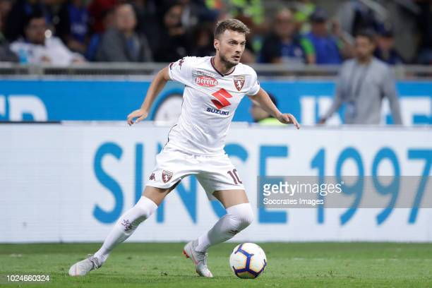 Adem Ljajic of Torino during the Italian Serie A match between Internazionale v Torino at the San Siro on August 26 2018 in Milan Italy