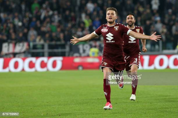 Adem Ljajic of Torino FC celebrate after scoring a goal during the Serie A football match between Juventus Fc and Torino Fc