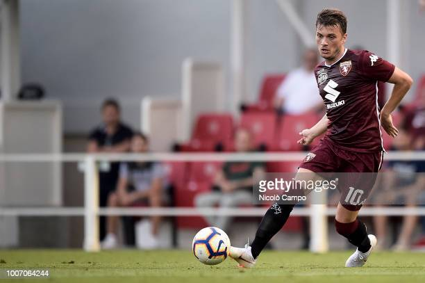 MOCCAGATTA ALESSANDRIA ITALY Adem Ljajic of Torino FC in action during the friendly football match between Torino FC and OGC Nice Torino FC won 10...