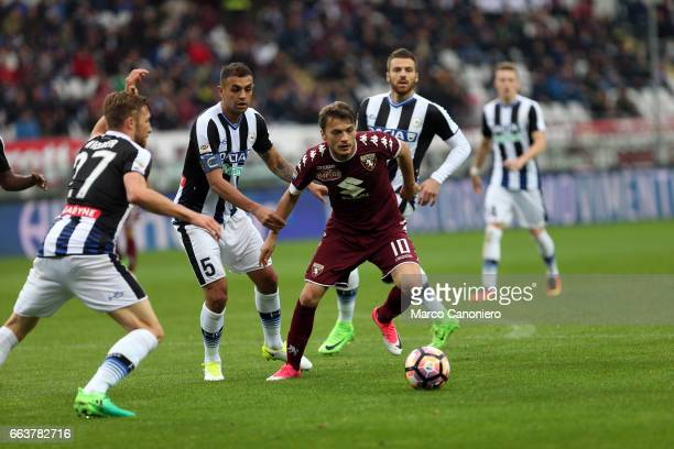 Adem Ljajic of Torino FC in action during the Serie A football match between Torino FC and Udinese Torino Fc wins 51 over Udinese Final result is 22