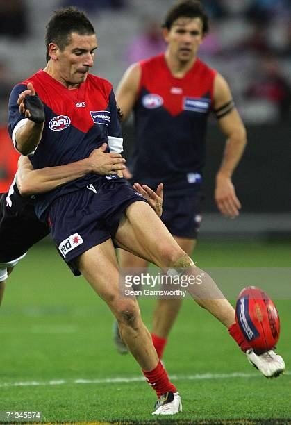Adem Yze for Melbourne in action during the round thirteen AFL match between Melbourne and Port Adelaide at the Melbourne Cricket Ground on July 1...