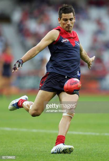 Adem Yze of the Bombers in action during the AFL match between the Melbourne Demons and Freemantle Dockers at the MCG on April 30 2005 in Brisbane...