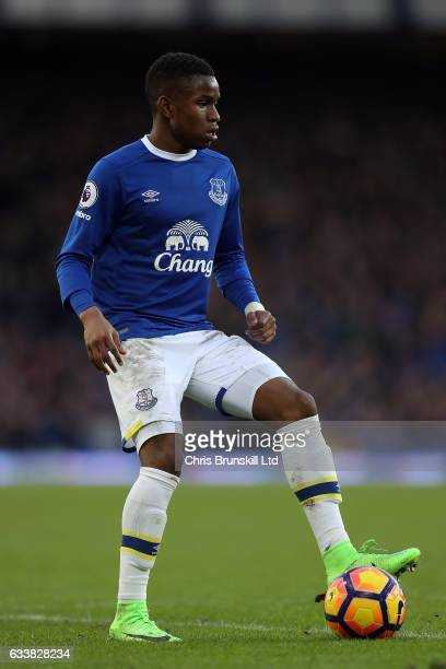 Ademola bookman of Everton in action during the Premier League match between Everton and AFC Bournemouth at Goodison Park on February 4 2017 in...