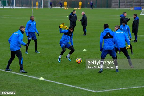 Ademola Lookman during the Everton training session at USM Finch Farm on December 12 2017 in Halewood England