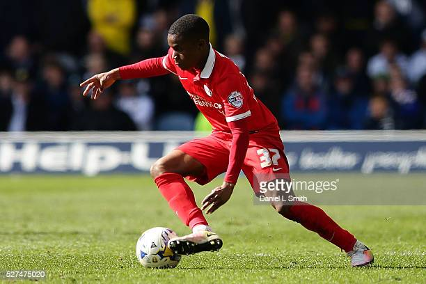 Ademola Lookman of Charlton Athletic FC during the Sky Bet Championship match between Leeds United and Charlton Athletic at Elland Road on April 30...