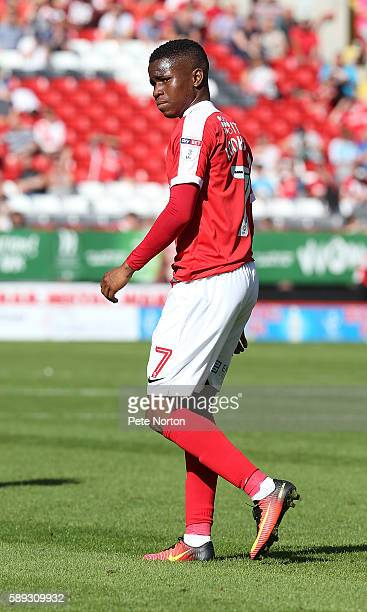 Ademola Lookman of Charlton Athletic in action during the Sky Bet League One match between Charlton Athletic and Northampton Town at The Valley on...