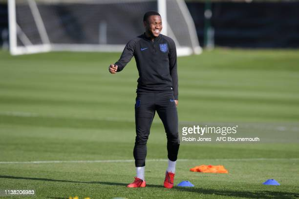 Ademola Lookman of England during a training session at Vitality Stadium on March 25 2019 in Bournemouth England