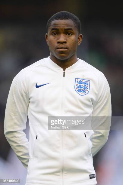 Ademola Lookman of England during the international friendly match between England U21 and Romania U21 at Molineux on March 24 2018 in Wolverhampton...