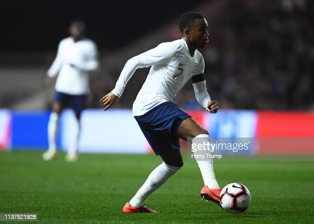 Ademola Lookman of England during the U21 International Friendly match between England and Poland at Ashton Gate on March 21 2019 in Bristol England