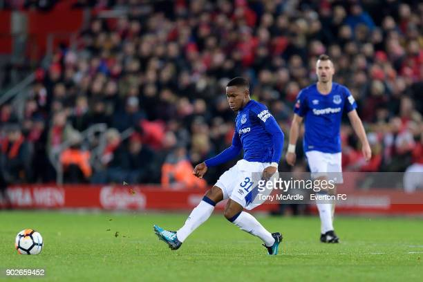 Ademola Lookman of Everton during The Emirates FA Cup Third Round match between Liverpool and Everton at the Anfield on January 5 2018 in Liverpool...