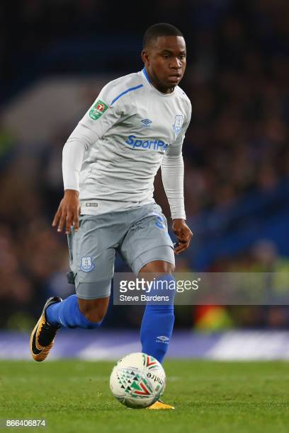 Ademola Lookman of Everton in action during the Carabao Cup Fourth Round match between Chelsea and Everton at Stamford Bridge on October 25 2017 in...