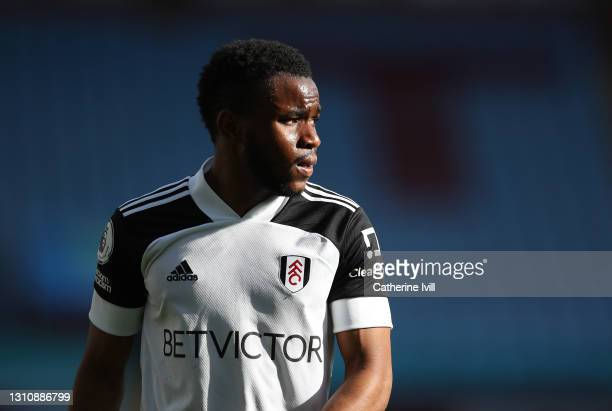 Ademola Lookman of Fulham during the Premier League match between Aston Villa and Fulham at Villa Park on April 04, 2021 in Birmingham, England....