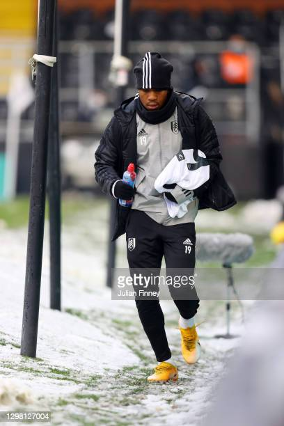 Ademola Lookman of Fulham walks around the pitch ahead of The Emirates FA Cup Fourth Round match between Fulham and Burnley at Craven Cottage on...