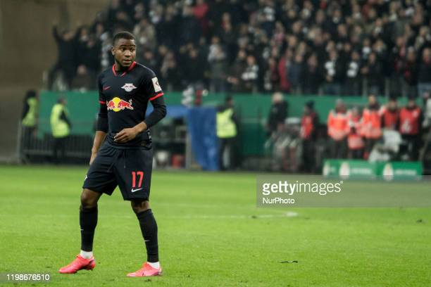 Ademola Lookman of Leipzig during the DFB Cup third round match between Eintracht Frankfurt and RB Leipzig at the CommerzbankArena on February 04...