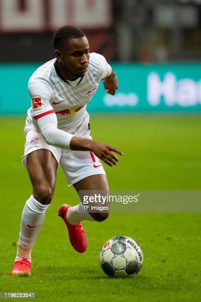 Ademola Lookman of RB Leipzig controls the ball during the Bundesliga match between Eintracht Frankfurt and RB Leipzig at CommerzbankArena on January...