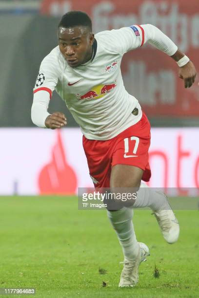 Ademola Lookman of RB Leipzig runs during the UEFA Champions League group G match between RB Leipzig and Zenit St Petersburg at Red Bull Arena on...
