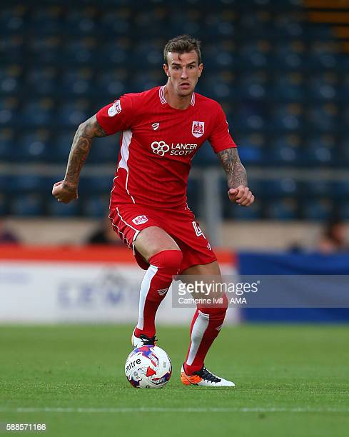 Aden Flint of Bristol City during the EFL Cup match between Wycombe Wanderers and Bristol City at Adams Park on August 8 2016 in High Wycombe England