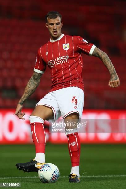 Aden Flint of Bristol City during the pre season match between Bristol City and FC Twente at Ashton Gate on July 28 2017 in Bristol England