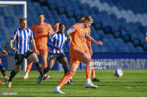 Aden Flint of Cardiff City FC during the Sky Bet Championship match between Sheffield Wednesday and Cardiff City at Hillsborough Stadium on April 5,...