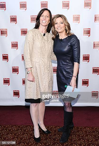 Adena Friedman and Deirdre Bolton attend the 2016 Forbes Women's Summit on May 12, 2016 in New York, New York.