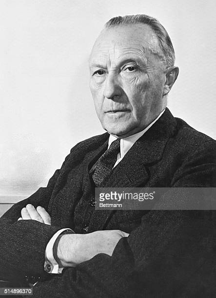 Adenauer, Chancellor of Germany.