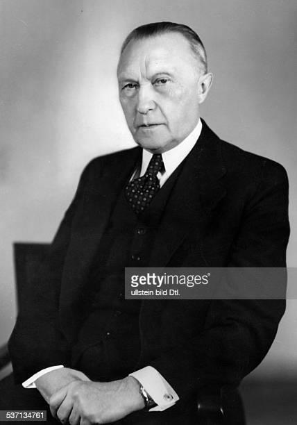 Adenauer, Konrad , Politiker, CDU, BRD, Porträt, - 1952
