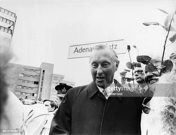 Adenauer, Max *21.09..2004+Politiker, CDU, Jurist, DSohn von Konrad Adenauer- Portrait, bei einem Besuch in West-Berlin am Adenauerplatz- Mai 1974