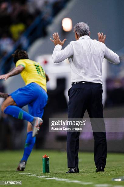 Adenor Bacchi Brazil Head Coach during the international friendly match between Brazil and Argentina at the King Saud University Stadium on November...