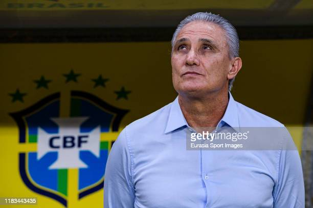 Adenor Bacchi Brazil Head Coach getting into the field during the match between Brazil and Korea Republic on November 19, 2019 at Mohammed Bin Zayed...