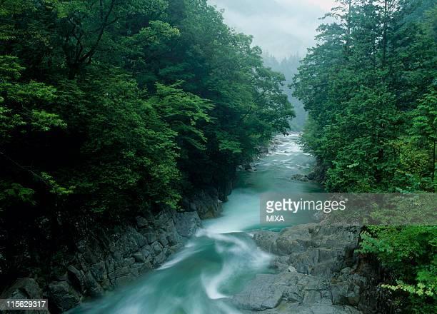 Adera Gorge, Ookuwa, Kiso, Nagano, Japan
