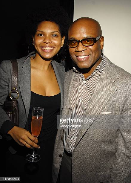 Adesina Dowers and LA Reid, chairman of Island Def Jam Group
