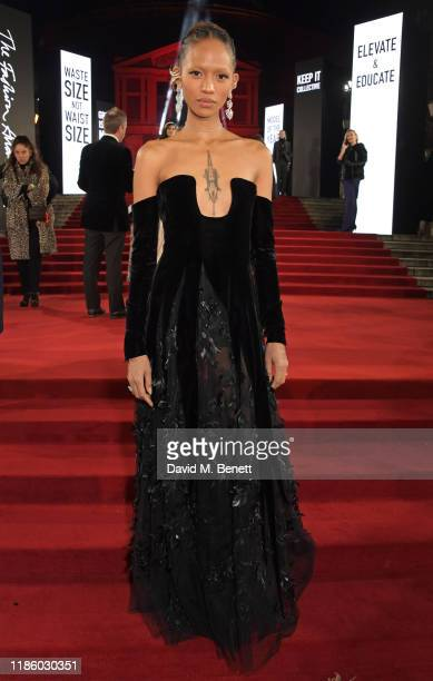 Adesuwa Aighewi arrives at The Fashion Awards 2019 held at Royal Albert Hall on December 2 2019 in London England